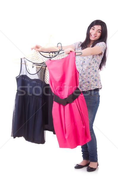 Jovem alfaiate isolado branco mulher moda Foto stock © Elnur