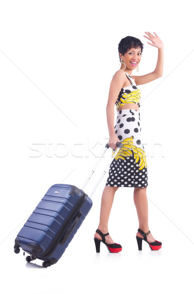 Young woman preparing for vacation Stock photo © Elnur