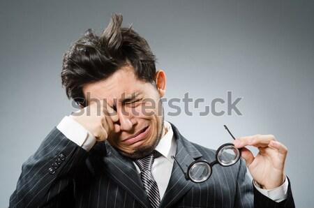 бизнесмен самоубийства изолированный белый бизнеса стороны Сток-фото © Elnur