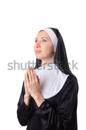 Young nun in religious concept Stock photo © Elnur