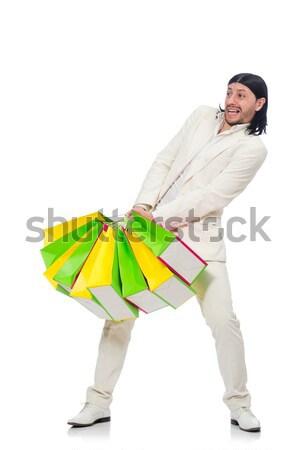 Funny hombre mujer vestido vacaciones Foto stock © Elnur
