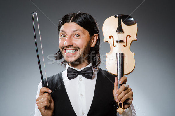 смешные скрипка скрипки игрок музыкальный человека Сток-фото © Elnur