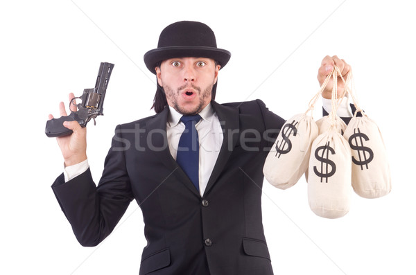 Young businessman isolated on the white background Stock photo © Elnur