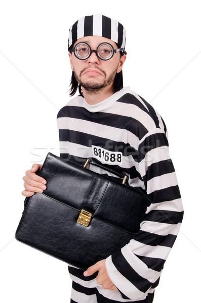 Stok fotoğraf: Hapis · tutuklu · yalıtılmış · beyaz · iş · işadamı