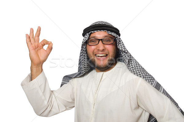 Stock photo: Concept with arab man isolated on white