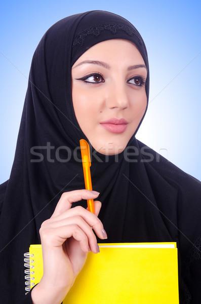 Giovani muslim donna libro bianco felice Foto d'archivio © Elnur