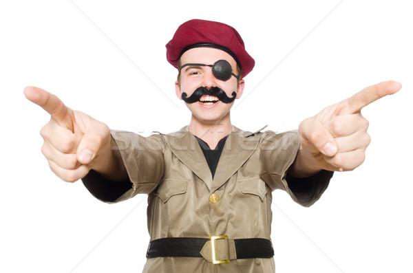 Engraçado soldado militar homem verde guerra Foto stock © Elnur