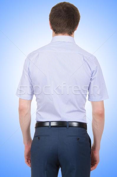 Férfi modell póló izolált fehér férfi modell Stock fotó © Elnur