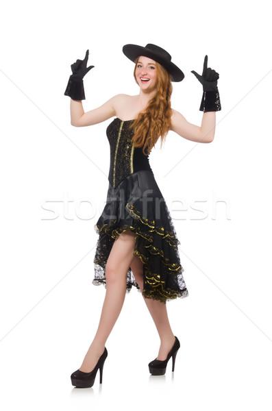Mujer moda ropa feliz negro retro Foto stock © Elnur