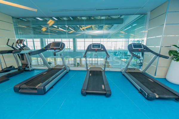 Modern gym with various sports equipment Stock photo © Elnur