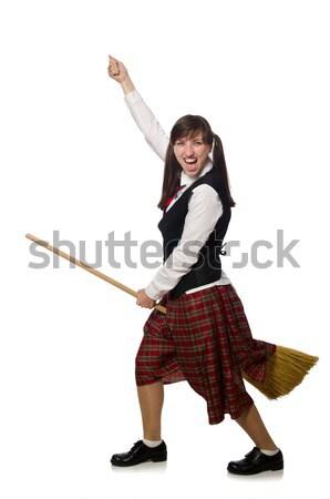 Nő divat ruházat boldog tánc női Stock fotó © Elnur