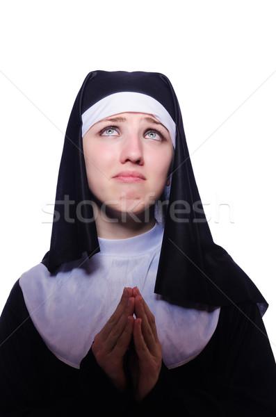 Non geïsoleerd witte vrouw gezicht kerk Stockfoto © Elnur