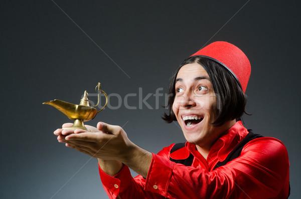 Homem vermelho seis moda engraçado Foto stock © Elnur