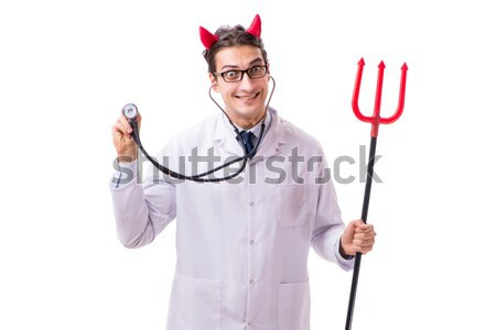 Man duivel Rood kostuum partij sexy Stockfoto © Elnur