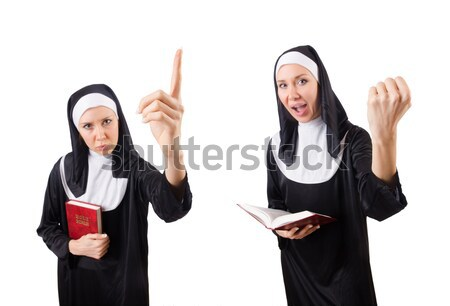 Nun isolated on the white background Stock photo © Elnur