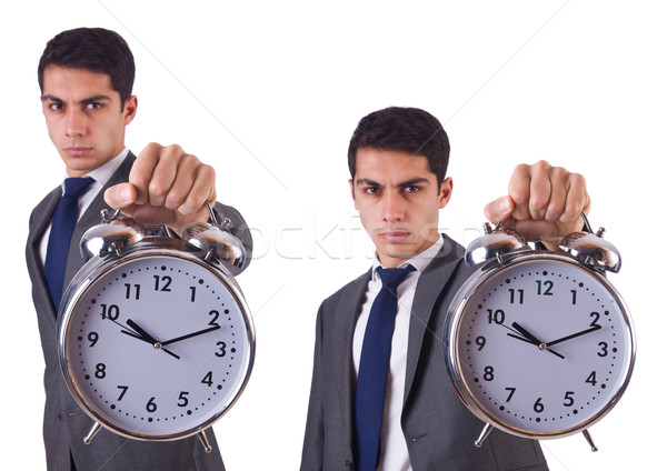 Hombre reloj aislado hombre blanco blanco negocios Foto stock © Elnur