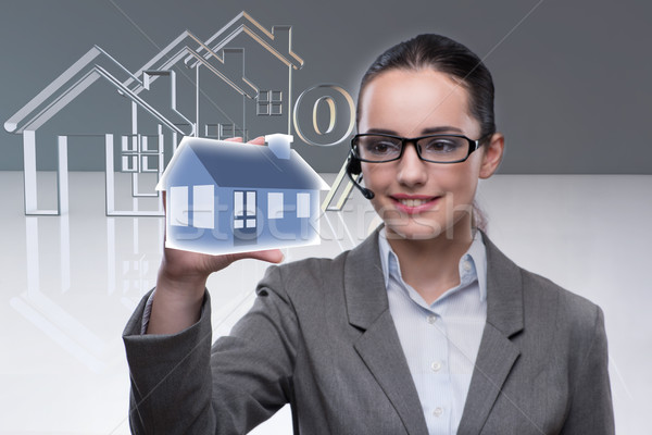 Businesswoman in real estate mortgage concept  Stock photo © Elnur