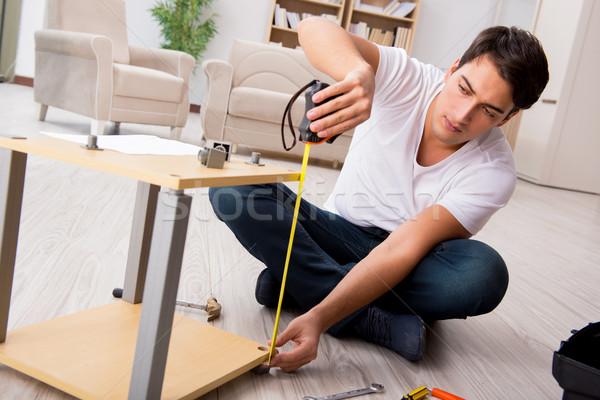 Férfi polc otthon épület munka belső Stock fotó © Elnur