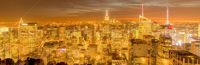 New York - DECEMBER 20, 2013: View of Lower Manhattan on Decembe Stock photo © Elnur