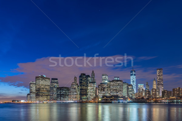 The view of lower manhattan from brooklyn Stock photo © Elnur