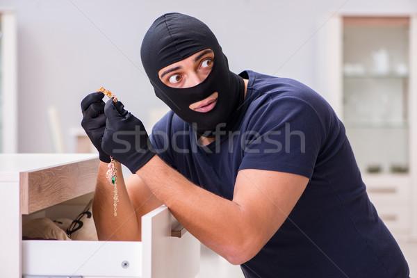 強盗 着用 盗む 貴重 物事 ホーム ストックフォト © Elnur