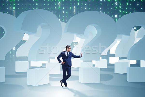 ビジネスマン 不確実性 疑問符 にログイン ワーカー 将来 ストックフォト © Elnur
