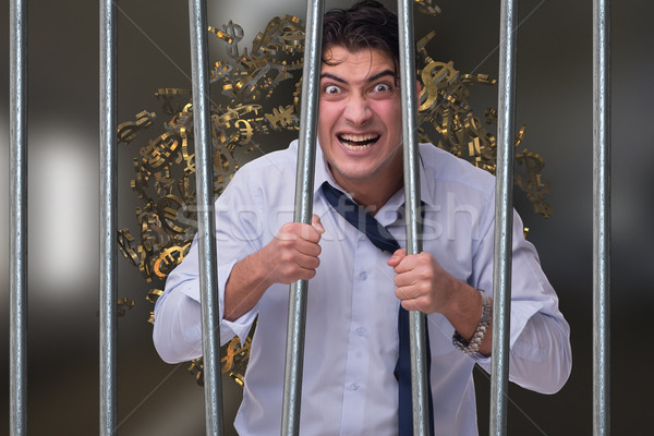Businessman in prison for monetary fraud Stock photo © Elnur