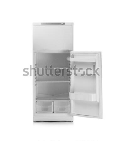 Zdjęcia stock: Nowoczesne · lodówka · odizolowany · biały · żywności · domu