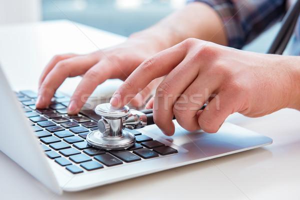 компьютер портативного компьютера ноутбука работу Сток-фото © Elnur