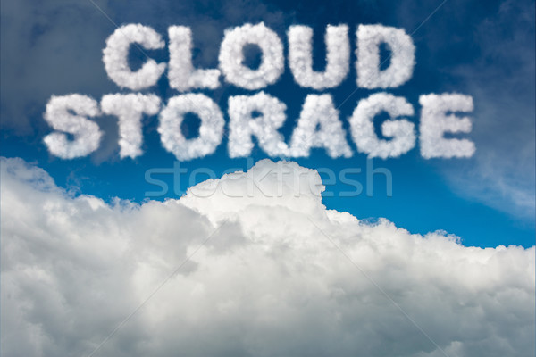 The cloud computing storage in it concept Stock photo © Elnur