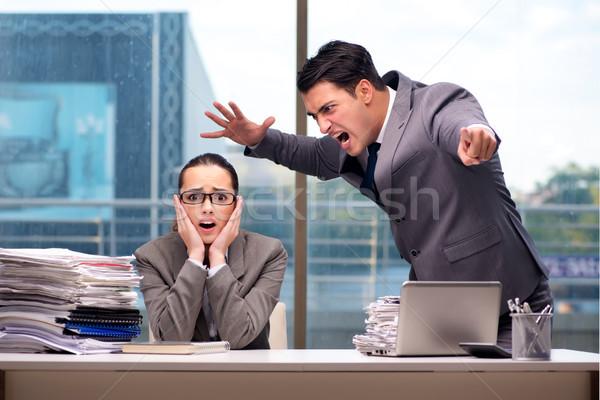 Boss yelling at his team member Stock photo © Elnur
