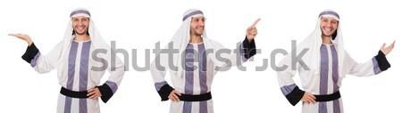 Donna indossare marinaio suit isolato bianco Foto d'archivio © Elnur