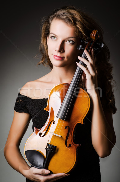 女性 パフォーマー バイオリン スタジオ 少女 手 ストックフォト © Elnur