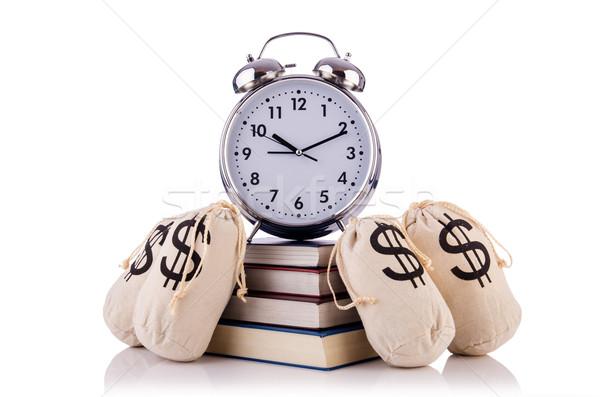 деньги будильник белый бизнеса часы фон Сток-фото © Elnur