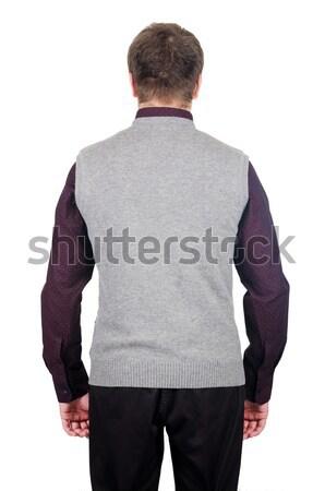 Veste isolé blanche affaires fond noir Photo stock © Elnur