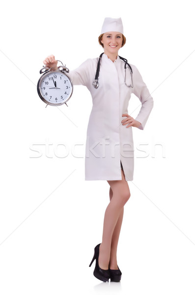 Attractive woman doctor isolated on white Stock photo © Elnur