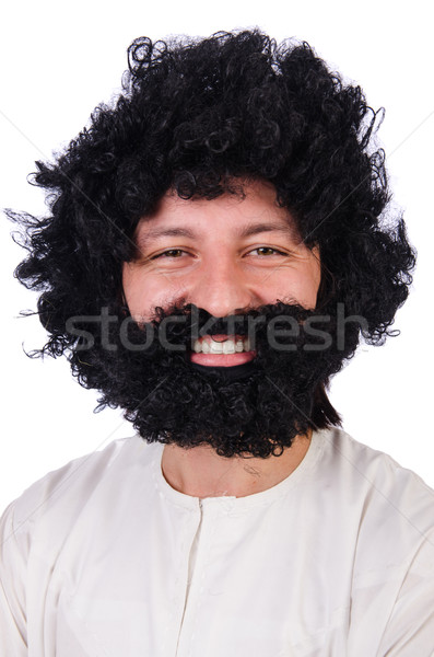 Hairy funny man isolated on the white Stock photo © Elnur