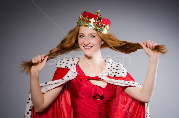 Regina vestito rosso studio donna lavoro imprenditore Foto d'archivio © Elnur