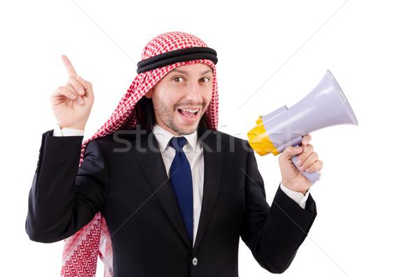 Emiraty głośnik odizolowany biały działalności Zdjęcia stock © Elnur