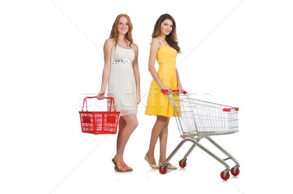 Stock fotó: Kettő · női · barátok · vásárlás · nők · boldog