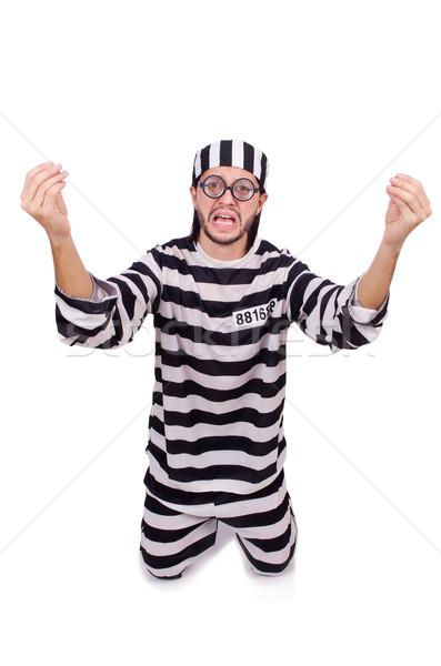 Börtön bennlakó izolált fehér szemüveg labda Stock fotó © Elnur