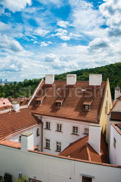 Stok fotoğraf: Görmek · Prag · parlak · yaz · gün · gökyüzü