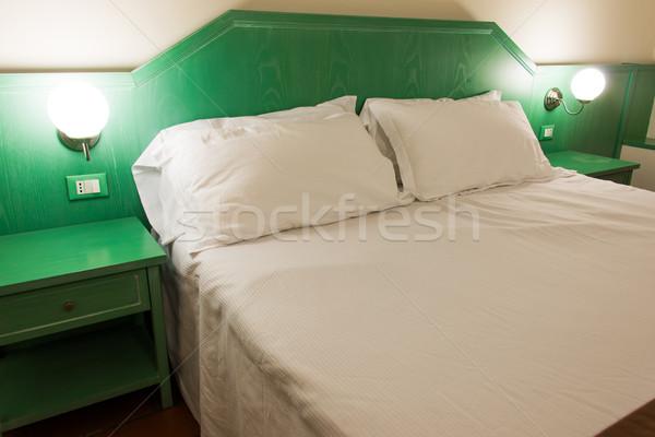 Stockfoto: Moderne · hotelkamer · interieur · huis · ontwerp · reizen