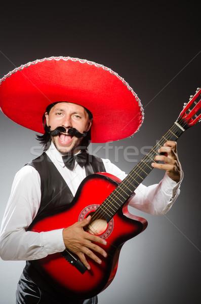 Mexikói férfi szombréró izolált fehér mosoly Stock fotó © Elnur