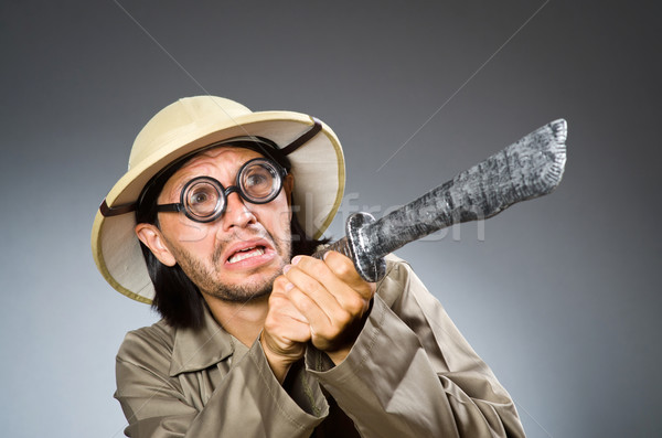 面白い サファリ ハンター 自然 眼鏡 楽しい ストックフォト © Elnur