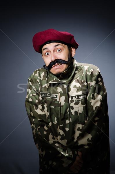Сток-фото: смешные · солдата · военных · человека · зеленый · войны