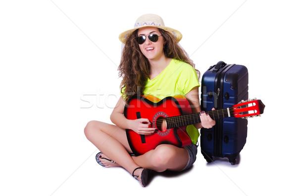 Guitarrista aislado blanco fiesta fondo Foto stock © Elnur