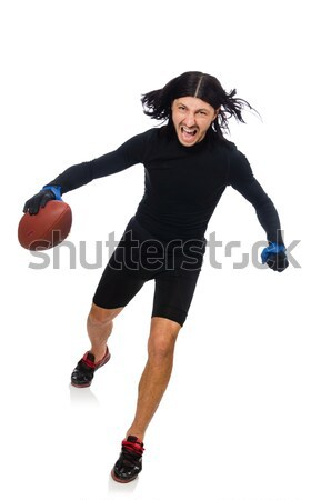 Man playing american football isolated on white Stock photo © Elnur