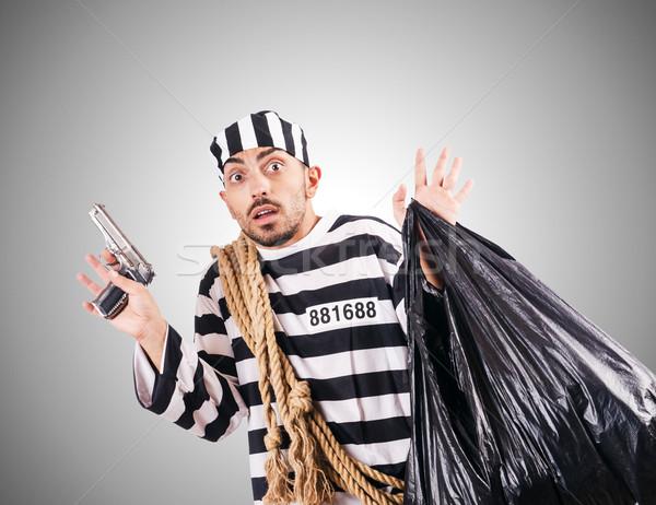 Criminal a rayas uniforme ley justicia Foto stock © Elnur
