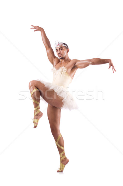Man in tutu performing ballet dance Stock photo © Elnur